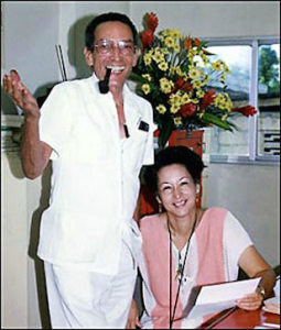 Jean Dominique and Michèle Montas. Radio Haiti's 60th anniversary, 1995.