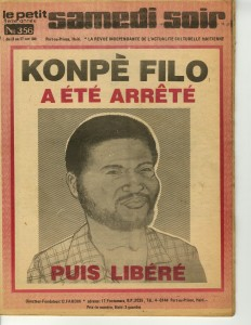 Le Petit Samedi Soir from October 17, 1980, on the arrest of Radio Haiti journalist Konpè Filo